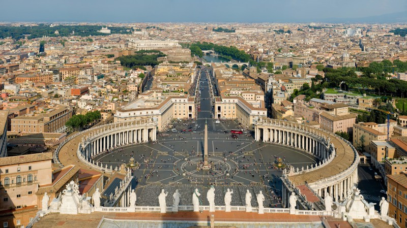 梵諦岡聖彼得大教堂前,聖彼得廣場 St Peter's Square, Vatican City [photo / Diliff]