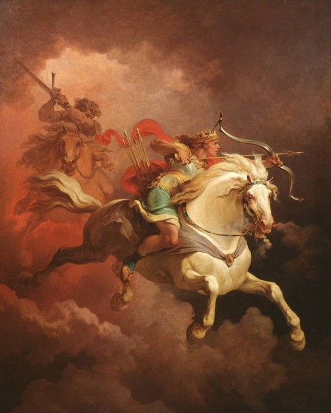 'The Vision Of The White Horse',  by Philip James De Loutherbourg